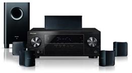 Pioneer HTP-206 5.1 Heimkinosystem mit integriertem Bluetooth (HDMI mit HDCP 2.2, 4K Ultra HD-Passthrough) schwarz -